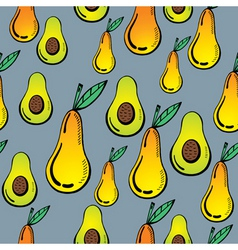 avocado and pear vector image vector image