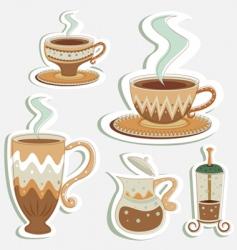 coffee designs vector image