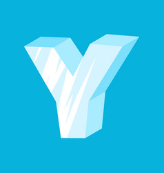 letter y ice font icicles alphabet freeze vector image