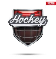 Premium symbol of Ice Hockey label vector image vector image
