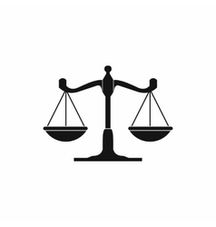 Scales of justice icon simple style vector image vector image