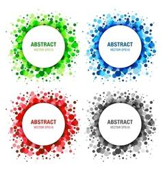 Set of Bright Abstract Circles Frames vector image vector image