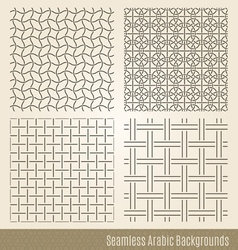 Set of Seamless Islamic backgrounds vector image