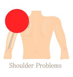 shoulder problem icon cartoon style vector image