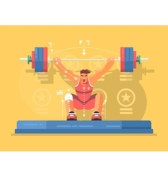 Weightlifting competitions flat design vector image vector image