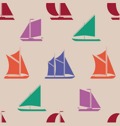 Cartoon silhouette shape wrapping pattern vector
