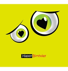 funny card smile eyes vector image vector image