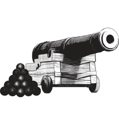 Navy Cannon vector image vector image