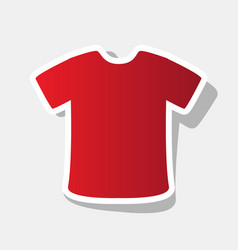 t-shirt sign new year reddish icon with vector image vector image