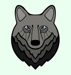 wolf head black predator symbol freedom vector image