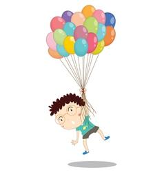a boy with balloons vector image vector image