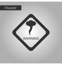Black and white style icon hurricane tornado vector