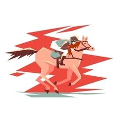 Equestrian horse racing vector image vector image