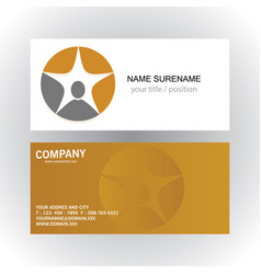 people star succes logobusiness card vector image