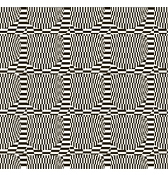 Abstract black and white checkered pattern vector