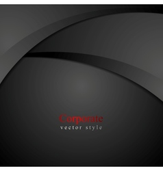 Abstract dark waves background vector