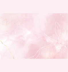 abstract dusty rose blush liquid watercolor vector image