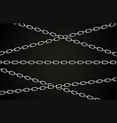 abstract silver chain background vector image