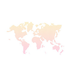 abstract world map with dots gradient from vector image