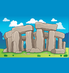 Ancient stone monument theme 2 vector