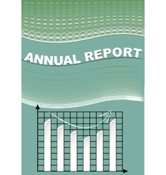 Annual report cover with graph and cifer group on vector image