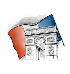 Arch triumph on flag vector