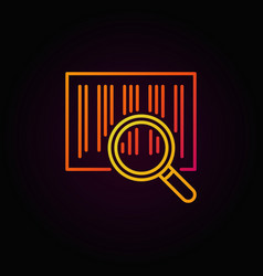 Barcode search colorful line icon vector