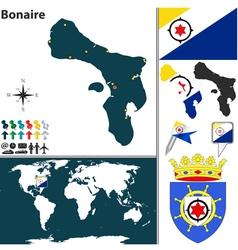 Bonaire map vector