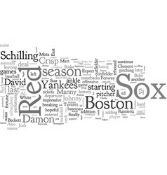 Boston red sox preview vector