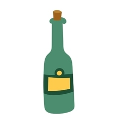 Bottle of Champagne vector