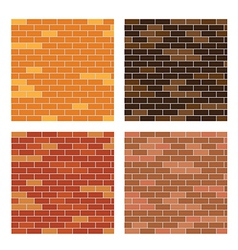 Brick wall background set vector