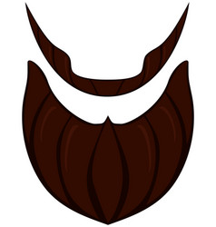 Cartoon icon poster beard beaver bearded man vector