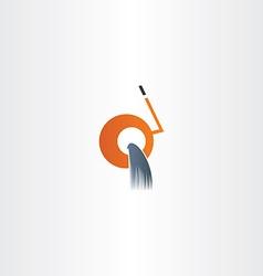Cement mixer machine icon vector