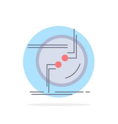 Chain connect connection link wire flat color icon vector