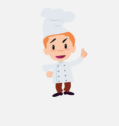 Chef talking very determined and optimistic vector