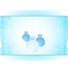 Christmas bauble panel background landscape vector