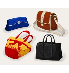 Collection of classic womans bags vector