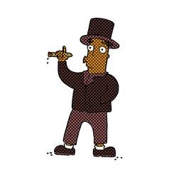 comic cartoon smoking gentleman vector image