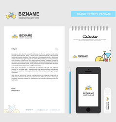 cycle business letterhead calendar 2019 and vector image
