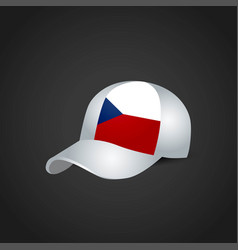 Czech republic flag on cap vector