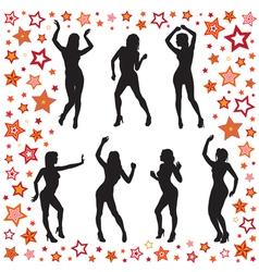 Dancing women vector