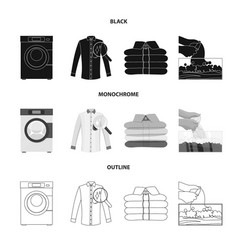Design of laundry and clean sign set of vector