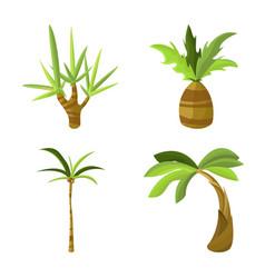 design tree and beach logo set tree vector image