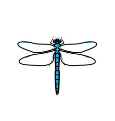 dragonfly logo symbol icon sign blue color vector image