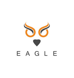 eagle art logo vector image