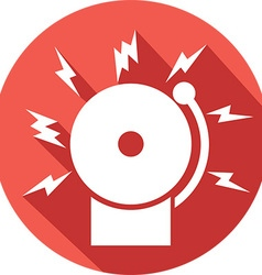 Fire Alarm Icon vector image