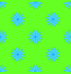 floral pattern on the neon green background vector image