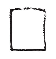 frame or text box grunge textured hand drawn vector image