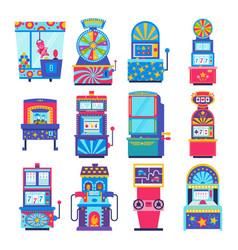 Game machine arcade gambling games in vector