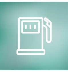 Gas pump thin line icon vector image